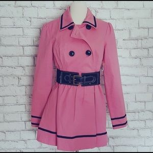 Pink Trench Coat with belt